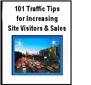 FREE EBOOK 101 Traffic Tips: More Visitors & Sales