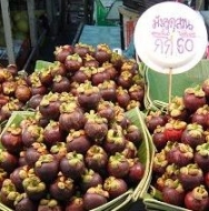 Mangosteen Fruit - For Sale at Market in Malaysia
